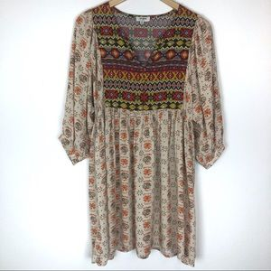 Umgee bohemian style mini dress size medium